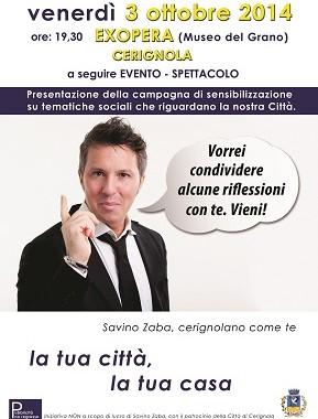 Savino Zaba_ manifesto No Regresso Cerignola_invito_fb